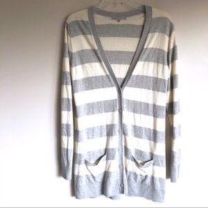 Gap Striped Button Down Cardigan Sweater